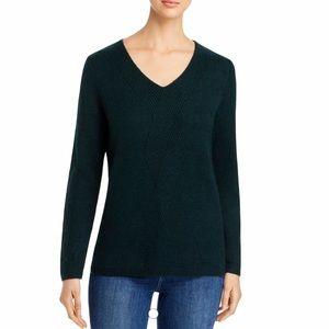 Calvin Klein Womens Sweater Geo-Stitch V-Neck
